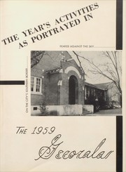 Page 7, 1959 Edition, Geneva County High School - Gecorala Yearbook (Hartford, AL) online yearbook collection