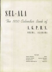 Page 5, 1950 Edition, Parrish High School - Sel Ala Yearbook (Selma, AL) online yearbook collection