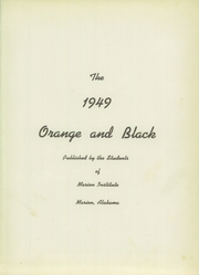 Page 5, 1949 Edition, Marion Military Institute - Orange and Black Yearbook (Marion, AL) online yearbook collection