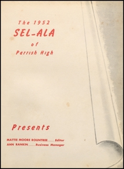 Page 5, 1952 Edition, Parrish High School - Tornado Yearbook (Parrish, AL) online yearbook collection