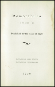 Page 7, 1935 Edition, Bloomsburg High School - Memorabilia Yearbook (Bloomsburg, PA) online yearbook collection
