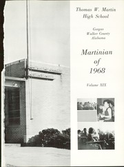 Page 5, 1968 Edition, Martin High School - Martinian Yearbook (Goodsprings, AL) online yearbook collection
