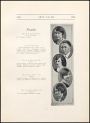 Page 13, 1926 Edition, Jefferson County High School - Jeffersonian Yearbook (Tarrant, AL) online yearbook collection