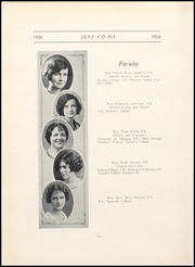Page 14, 1926 Edition, Jefferson County High School - Jeffersonian Yearbook (Tarrant, AL) online yearbook collection