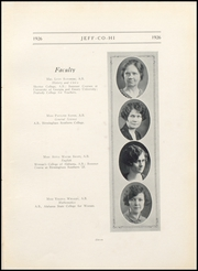 Page 15, 1926 Edition, Jefferson County High School - Jeffersonian Yearbook (Tarrant, AL) online yearbook collection