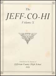 Page 5, 1926 Edition, Jefferson County High School - Jeffersonian Yearbook (Tarrant, AL) online yearbook collection