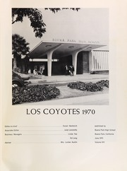 Page 5, 1970 Edition, Buena Park High School - Los Coyotes Yearbook (Buena Park, CA) online yearbook collection