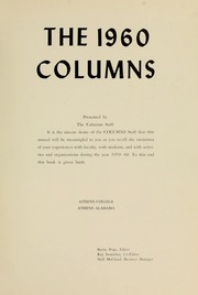 Page 5, 1960 Edition, Athens State College - Columns Yearbook (Athens, AL) online yearbook collection