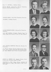 Page 61, 1959 Edition, Jacksonville State University - Mimosa Yearbook (Jacksonville, AL) online yearbook collection