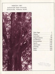 Page 5, 1981 Edition, Jacksonville State University - Mimosa Yearbook (Jacksonville, AL) online yearbook collection