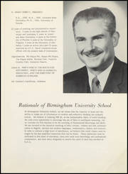 Page 11, 1961 Edition, Birmingham University School - Equestria Yearbook (Birmingham, AL) online yearbook collection