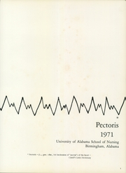Page 5, 1971 Edition, University of Alabama School of Nursing - Pectoris Yearbook (Birmingham, AL) online yearbook collection