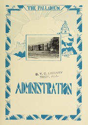Page 9, 1929 Edition, Troy University - Palladium Yearbook (Troy, AL) online yearbook collection