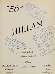 Page 5, 1956 Edition, Upland High School - Hielan Yearbook (Upland, CA) online yearbook collection