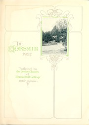 Page 7, 1927 Edition, Spring Hill College - Torch Yearbook (Mobile, AL) online yearbook collection