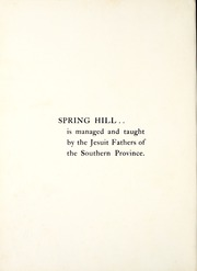 Page 12, 1939 Edition, Spring Hill College - Torch Yearbook (Mobile, AL) online yearbook collection