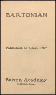 Page 7, 1907 Edition, Mobile High School - Bartonian Yearbook (Mobile, AL) online yearbook collection