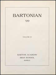 Page 7, 1909 Edition, Mobile High School - Bartonian Yearbook (Mobile, AL) online yearbook collection