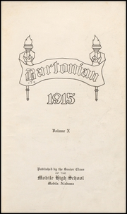 Page 9, 1915 Edition, Mobile High School - Bartonian Yearbook (Mobile, AL) online yearbook collection