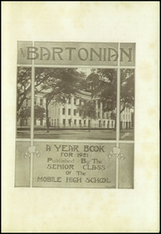 Page 5, 1921 Edition, Mobile High School - Bartonian Yearbook (Mobile, AL) online yearbook collection