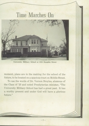 Page 9, 1953 Edition, University Military School - Cadet Yearbook (Mobile, AL) online yearbook collection