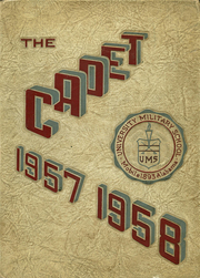 1958 Edition, University Military School - Cadet Yearbook (Mobile, AL)