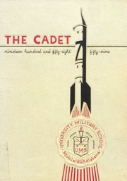 1959 Edition, University Military School - Cadet Yearbook (Mobile, AL)