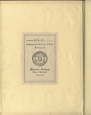 Page 2, 1936 Edition, Shorter College - Argo Yearbook (Rome, GA) online yearbook collection