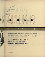 Page 9, 1936 Edition, Shorter College - Argo Yearbook (Rome, GA) online yearbook collection