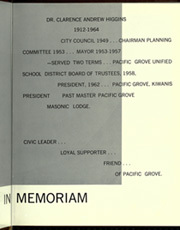 Page 13, 1965 Edition, Pacific Grove High School - Sea Urchin Yearbook (Pacific Grove, CA) online yearbook collection
