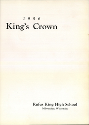 Page 7, 1956 Edition, Rufus King High School - Kings Crown Yearbook (Milwaukee, WI) online yearbook collection