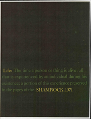 1971 Edition, St Thomas High School - Shamrock Yearbook (Ann Arbor, MI)