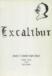 Page 5, 1959 Edition, Kimball High School - Excalibur Yearbook (Dallas, TX) online yearbook collection