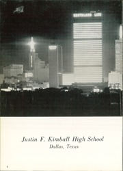 Page 6, 1960 Edition, Kimball High School - Excalibur Yearbook (Dallas, TX) online yearbook collection