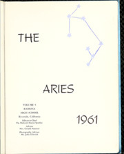 Page 5, 1961 Edition, Ramona High School - Aries Yearbook (Riverside, CA) online yearbook collection