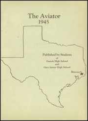 Page 5, 1945 Edition, French High School - Buffalo Yearbook (Beaumont, TX) online yearbook collection