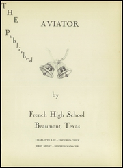 Page 5, 1952 Edition, French High School - Buffalo Yearbook (Beaumont, TX) online yearbook collection