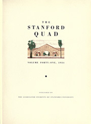 Page 11, 1934 Edition, Stanford University - Quad Yearbook (Palo Alto, CA) online yearbook collection