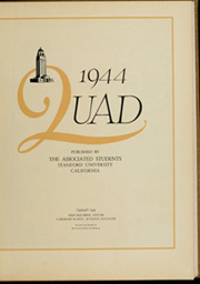 Page 5, 1944 Edition, Stanford University - Quad Yearbook (Palo Alto, CA) online yearbook collection