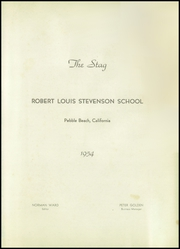 Page 5, 1954 Edition, Robert Louis Stevenson High School - Spyglass Yearbook (Pebble Beach, CA) online yearbook collection