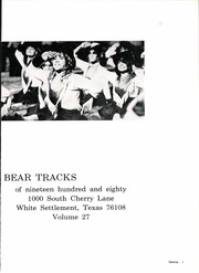 Page 5, 1980 Edition, C F Brewer High School - Bear Tracks Yearbook (White Settlement, TX) online yearbook collection