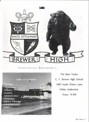 Page 5, 1981 Edition, C F Brewer High School - Bear Tracks Yearbook (White Settlement, TX) online yearbook collection