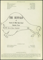 Page 5, 1955 Edition, Charles H Milby High School - Buffalo Yearbook (Houston, TX) online yearbook collection