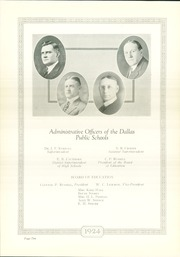 Page 12, 1924 Edition, N R Crozier Technical High School - Wolf Pack Yearbook (Dallas, TX) online yearbook collection