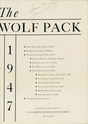 Page 5, 1947 Edition, N R Crozier Technical High School - Wolf Pack Yearbook (Dallas, TX) online yearbook collection