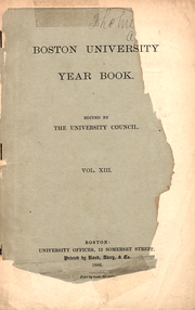Page 1, 1886 Edition, Boston University - HUB Yearbook (Boston, MA) online yearbook collection
