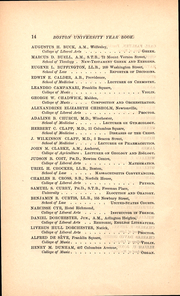 Page 14, 1886 Edition, Boston University - HUB Yearbook (Boston, MA) online yearbook collection