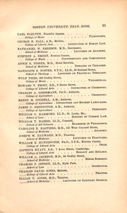 Page 15, 1886 Edition, Boston University - HUB Yearbook (Boston, MA) online yearbook collection