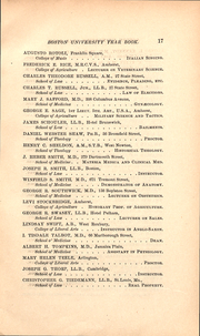 Page 17, 1886 Edition, Boston University - HUB Yearbook (Boston, MA) online yearbook collection