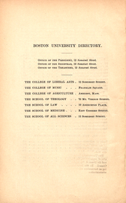 Page 6, 1886 Edition, Boston University - HUB Yearbook (Boston, MA) online yearbook collection